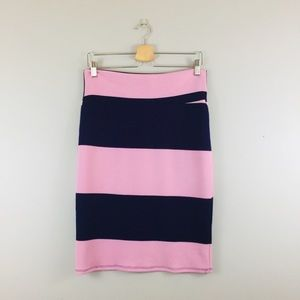 LuLaRoe | Purple Striped Pencil Skirt